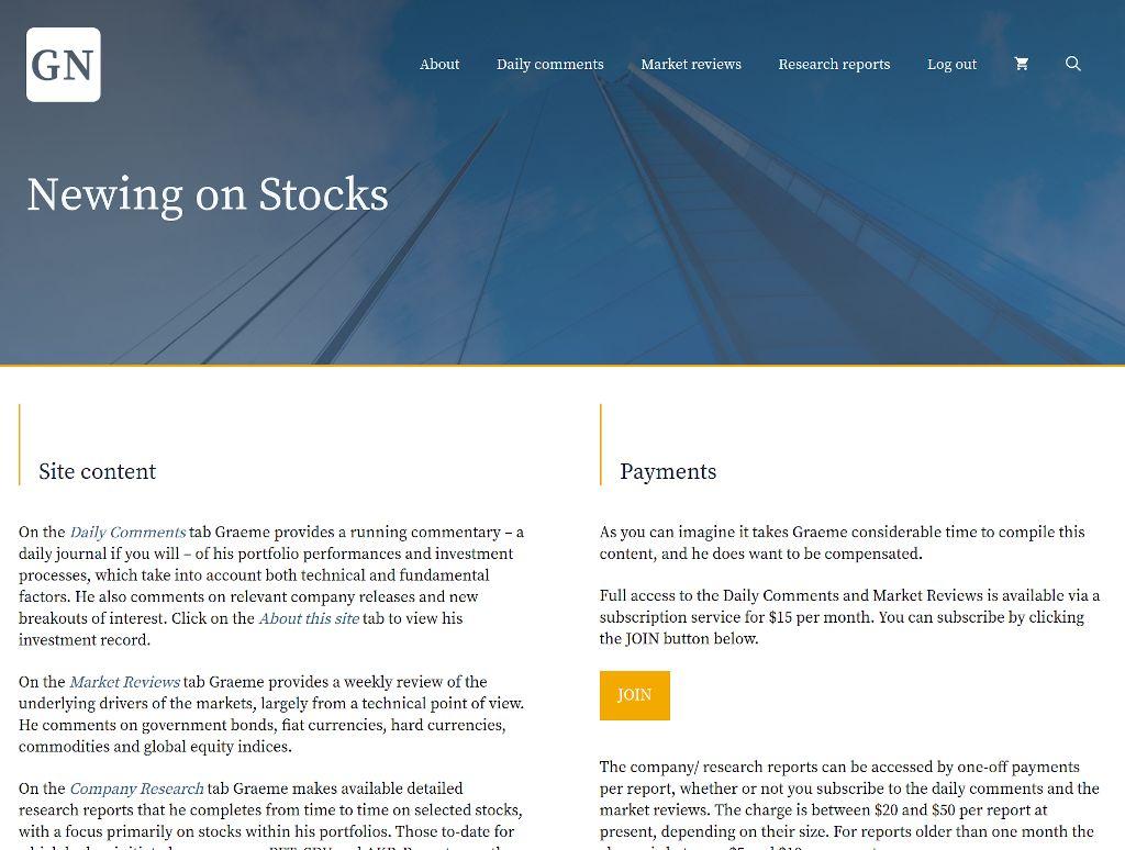 Newing on Stocks